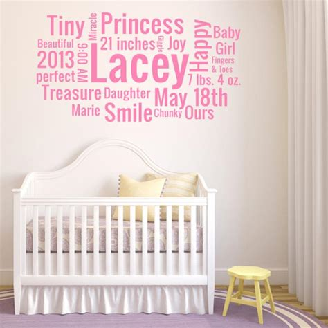 custom wall stickers words personalized nursery wall decals baby name decals