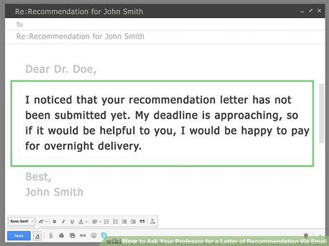 Recommendation Letter Email Title How To Ask Your Professor For A Letter Of Recommendation Via Email With Sle Emails