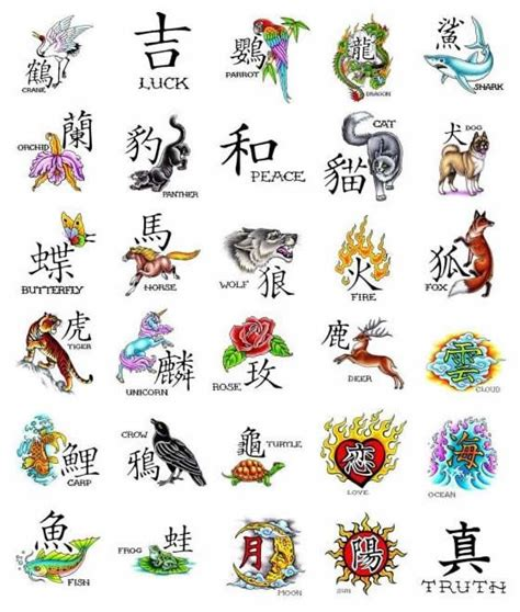 tattoo animal symbolism kanji symbol tattoos japanese tattoos zimbio