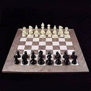Chess set madrid gray