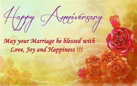 Happy Anniversary, May Your Marriage Be Blessed With Love