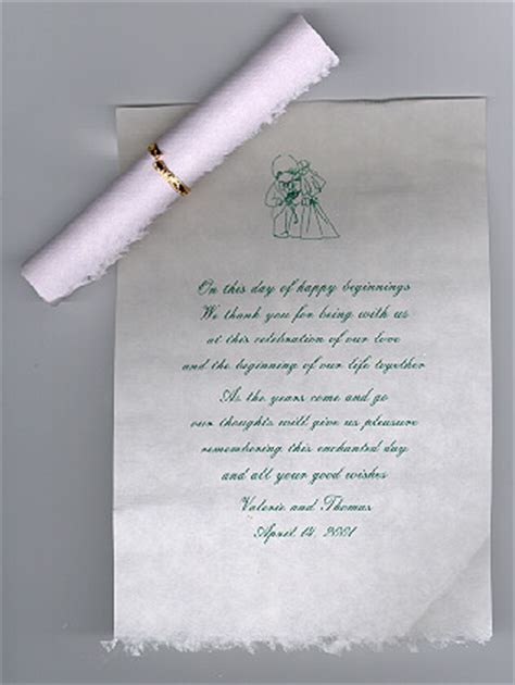 Thank You Scrolls Wedding Thank You Notes Printing Invites Cards