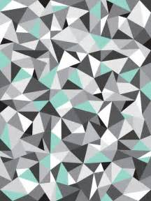 geometric pattern with a touch of colour turquoise grey and geometric shapes