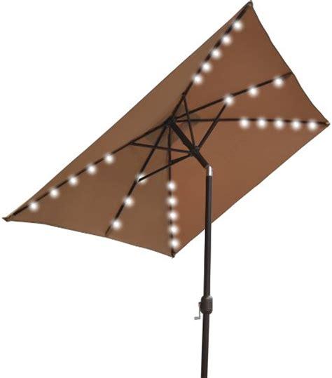 Black Friday Strong Camel 10 X6 5 Outdoor Solar 26 Led Rectangular Patio Umbrella With Solar Lights