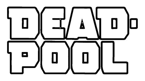 deadpool symbol coloring pages coloring pages of deadpool az coloring pages
