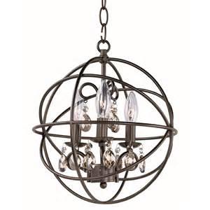 rubbed bronze chandelier with crystals orbit 3 light 14 quot rubbed bronze cognac mini
