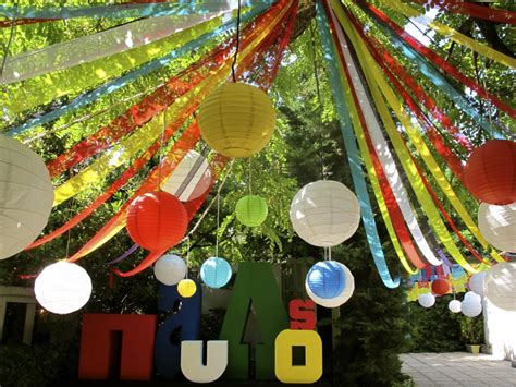 Colourful Backyard Circus Christening Kifisia Athens The12events