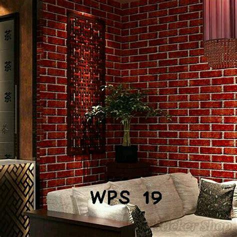 jual wallpaper dinding cm    warna  corak batu