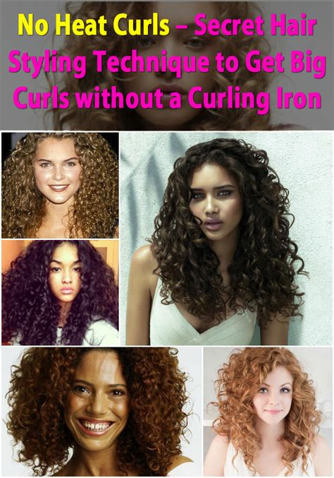 what kind of curler will put curls in african american hair no heat curls secret hair styling technique to get big