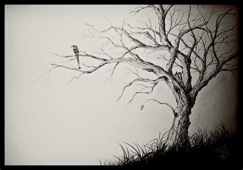 the last leaf on a dying tree by simonvelazquezart on