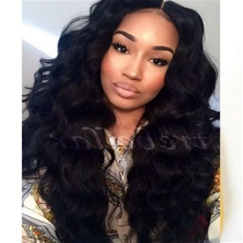 pictures of weave hairstyles to one side the most elegant full head sew in with side bangs for