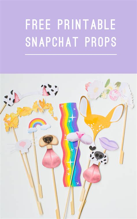Printable Photo Booth Props Snapchat | free printable photobooth snapchat props for your wedding