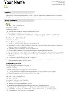Dentist Resumes by Dentist Resume Template Yourmomhatesthis
