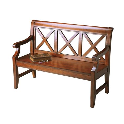accent benches shop butler specialty masterpiece transitional cherry