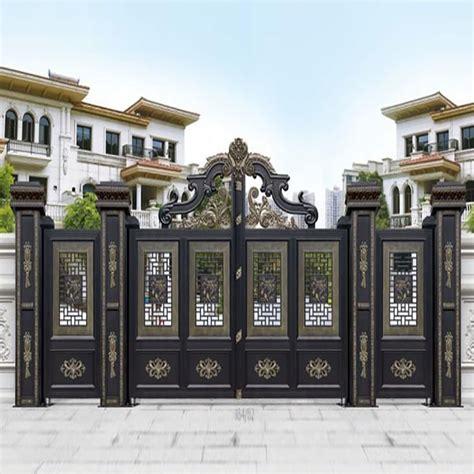 china custom wrought iron residential main entrance gates