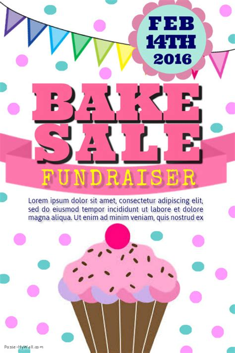 free bake sale flyer templates bake sale poster template cfxq