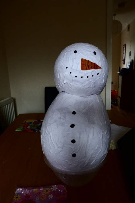 How To Make Paper Mache Snowman - how to make paper mache snowman