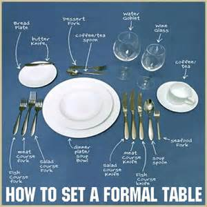 How To Set A Formal Table by How To Set A Formal Table Ideas Pinterest