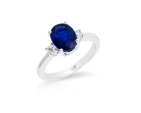 14k white gold sapphire ring