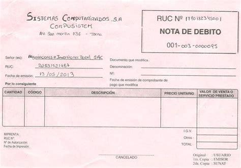 factura nota de cargo nota de credito recibo de documentos mercantiles monografias com