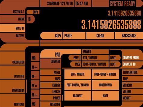 Calc Trek Lcars App For The Ipad