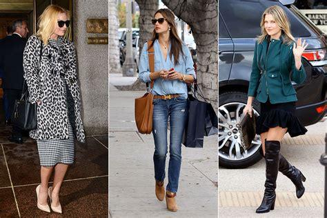 celebrity style celebrities winter street style photos of celeb street style