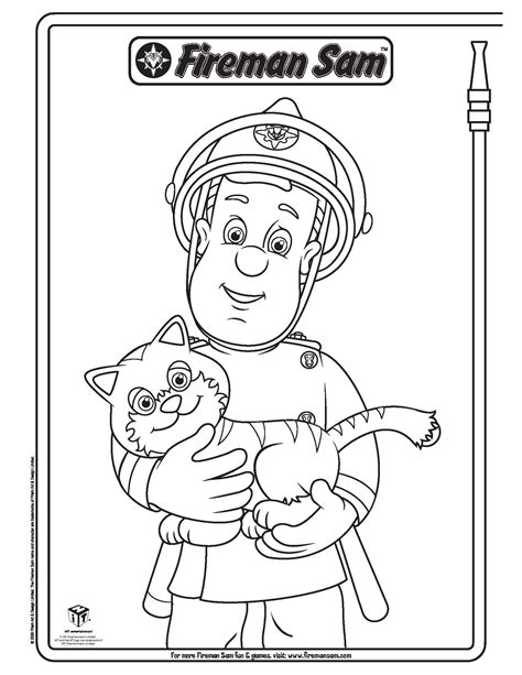 coloring book sam il pompiere