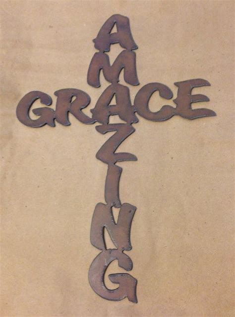 rustic cross tattoos amazing grace cross sign made of rustic rusted