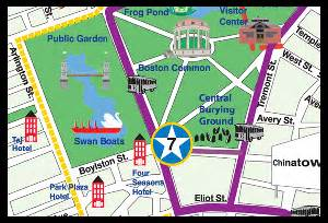 Boston Public Parking Map by The Swan Boats Boston Common Harvard Square The North End