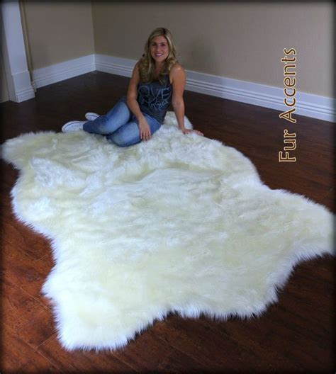 Large Fur Rugs by Large 8ft Polar Accent Rug Faux Fur By
