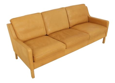orange and brown sofa 3 seat thams danish sofa orange and brown