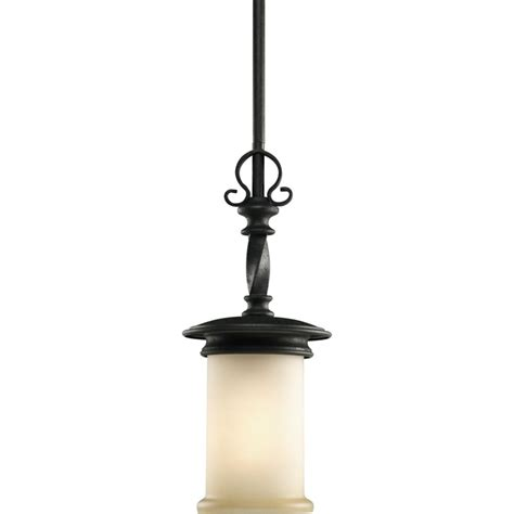 Pendant Lights Home Depot Progress Lighting Santiago Collection Forged Black 1 Light Mini Pendant The Home Depot Canada