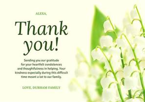 funeral thank you card templates canva