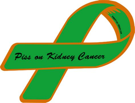 kidney cancer color custom ribbon on kidney cancer