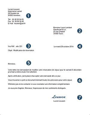 Presentation Normalisee De La Lettre Commerciale la pr 233 sentation d une lettre