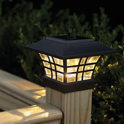 Fence Post Led Solar L Outdoor Waterproof Pillar Garden Solar Pillar Lights Outdoor