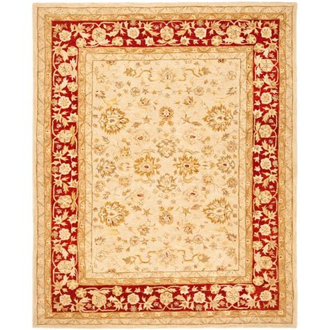 Safavieh Anatolia Ivory Red 9 Ft X 12 Ft Area Rug An522c 9 Foot Rugs
