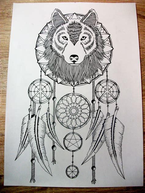 wolf dreamcatcher tattoo designs wolf catcher design tattoos