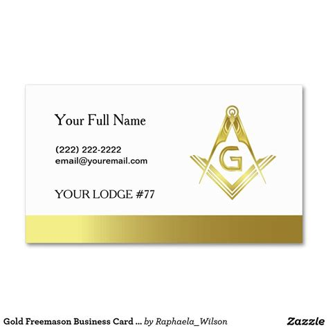 Freemason Business Card Templates by Gold Masonic Business Card Template Freemasonry