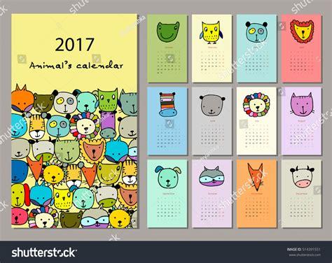 funny bees calendar 2017 design stock vector image 81720022 funny animals calendar 2017 design stock vector 514391551