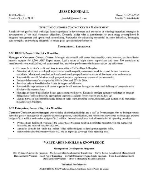 Resume Skills Exles Call Center Call Center Resume Whitneyport Daily
