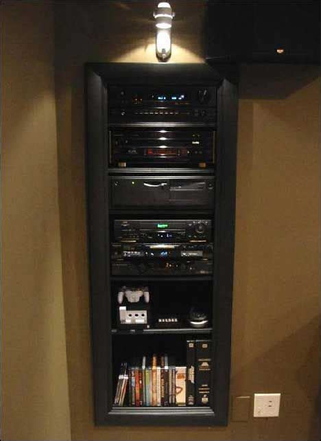 wall built stereo cabinet team  compound home theater