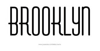 brooklyn name tattoo designs
