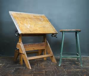 Vintage Wood Drafting Table Drafting Table Vintage Wood And Cast Iron Artist Drawing