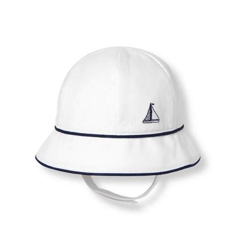 sailboat hat accessories white sailboat bucket hat by janie and jack