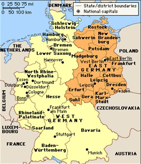 map of east germany east germany map free printable maps