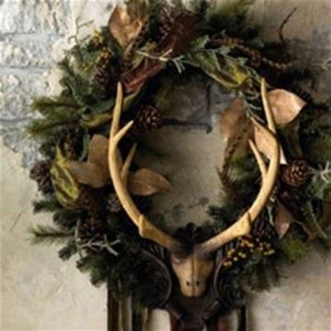 shabby chic wreath with antlers