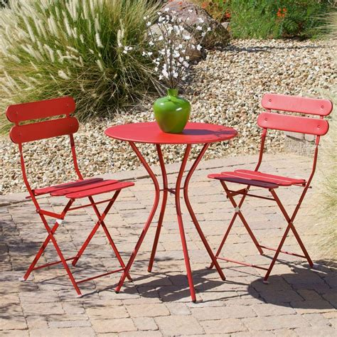 amazon com set of 3 french tuscan red swirl ceramic rst brands sol red 3 piece patio bistro set op bs3 sol r