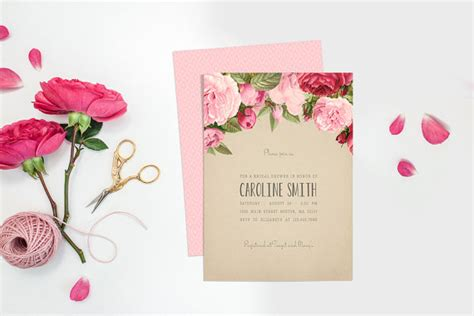Printable Bridal Shower Paper | printable bridal shower invitation kraft paper bridal