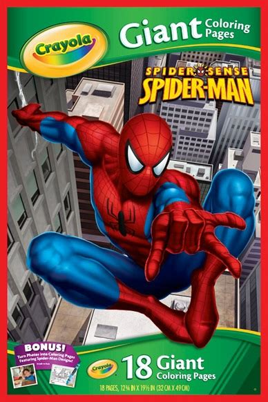 crayola giant coloring pages ultimate spider man paper pads